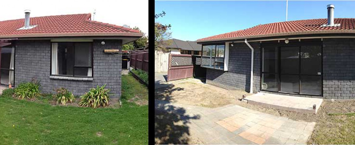 BEFORE AND AFTER WE'VE LEVELLED YOUR FOUNDATIONS