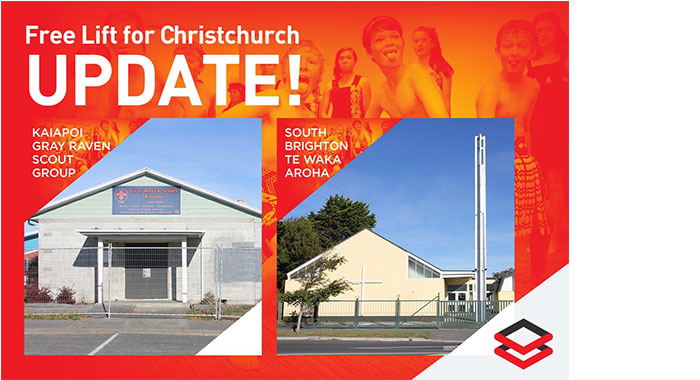 Free Lift For Christchurch – Project Update – August 2016