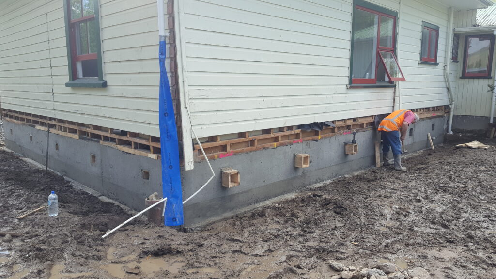 formerly Kaikoura earthquake damaged house repaired by SmartLift foundation repairs