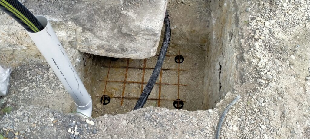 Close up of SmartLift's patented concrete jacking pads which can be adjusted at any time